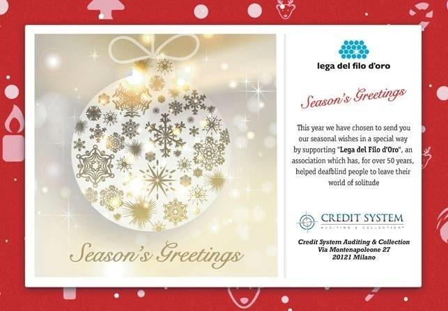 Season's Greetings – Credit System per la Lega del Filo d'Oro
